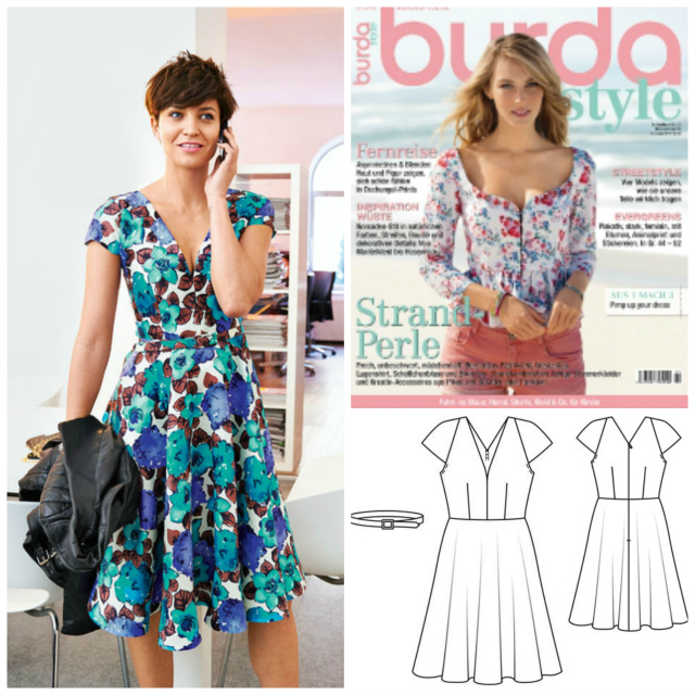 Me-made red-white striped dress pattern 104 Burda May 2014 ... Sewionista.com ... Sewing ... Slow Fashion ... DIY ... Blog
