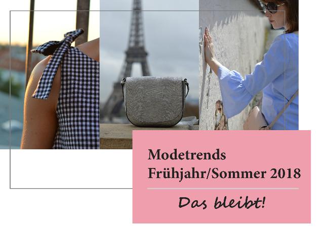 Modetrends Frühjahr/Sommer 2018 - Das bleibt  ... Sewionista.com ... Nähen ... Slow Fashion ... DIY