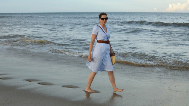 Summer at the Sea – Burdastyle Wrap Dress